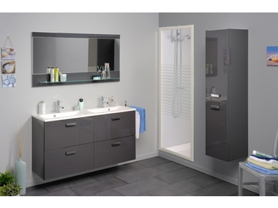 Meuble bas 1 tiroir 2 portes Studio 2 laque gris
