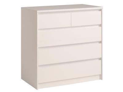 Commode 5 tiroirs Ontario blanc brillant