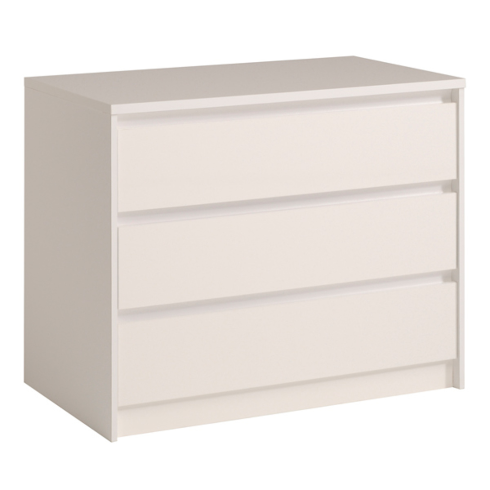 Commode tiroirs ontario blanc brillant commode moderne pas for Lit adulte avec commode