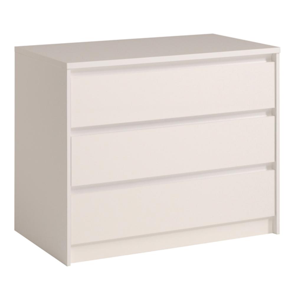 commode 3 tiroirs ontario blanc brillant. Black Bedroom Furniture Sets. Home Design Ideas