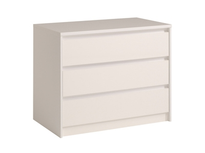 Commode 3 tiroirs Ontario blanc brillant