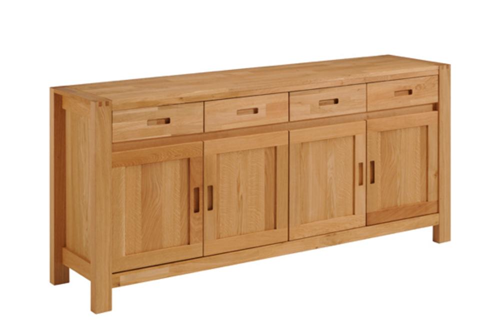 Bahut 4 portes 4 tiroirs ethan chene huile - Buffet de salle a manger en bois ...
