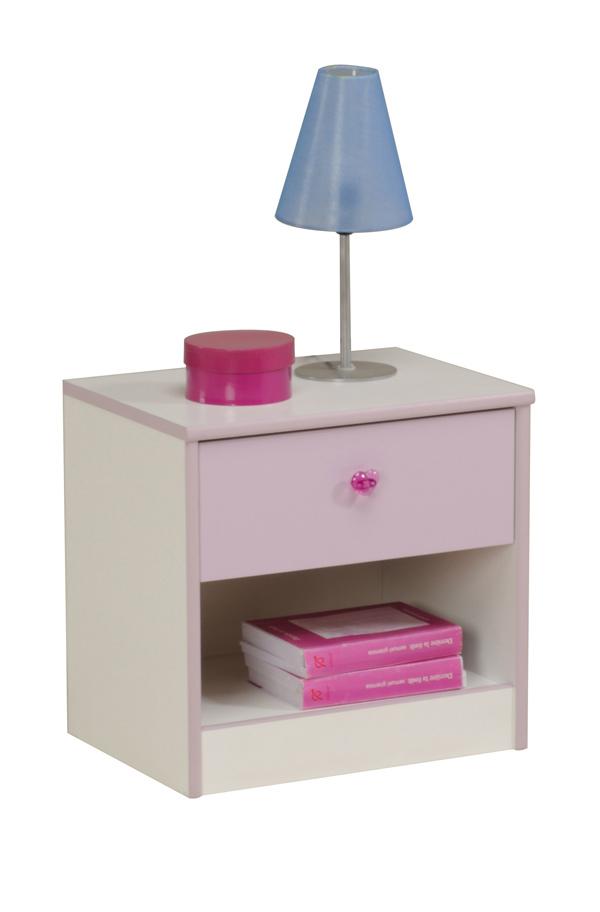 chevet mademoiselle blanc parme. Black Bedroom Furniture Sets. Home Design Ideas