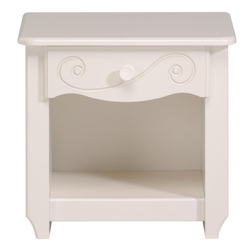 Chevet alice blanc brillant blanc for Suspension chambre enfant avec matelas mousse ou memoire de forme
