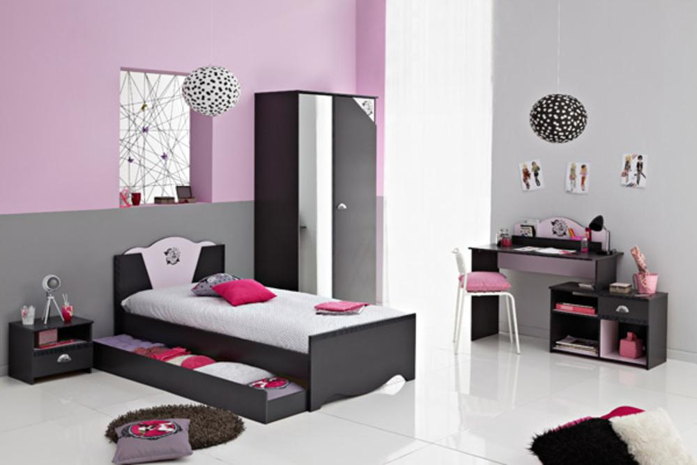 bureau tatoo gris rose. Black Bedroom Furniture Sets. Home Design Ideas