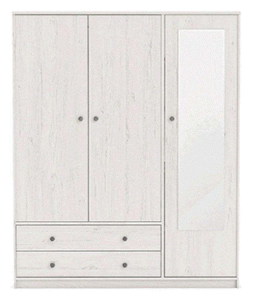 armoire 3 portes 2 tiroirs copenhague pin blanchi. Black Bedroom Furniture Sets. Home Design Ideas