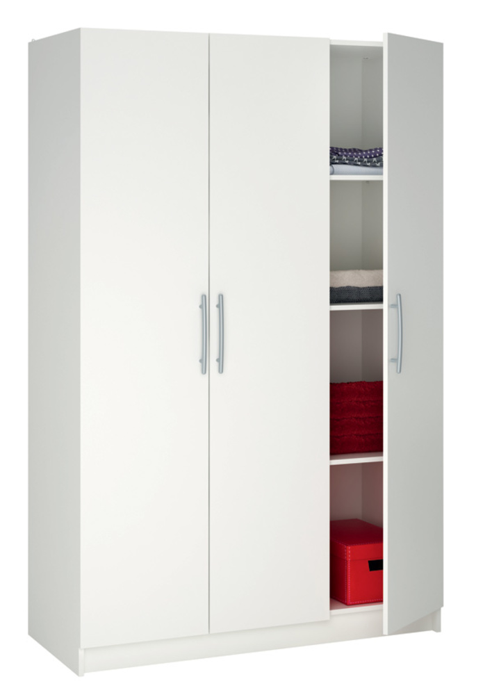 Armoire 3 portes washington blanc for Ikea portes d armoire blanc