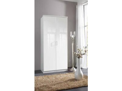 Armoire 2 portes Clack blanc  portes pleines