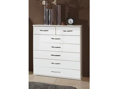 Commode 5+2 tiroirs Trio blanc