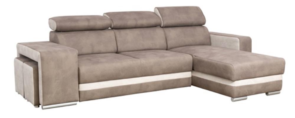 canap d 39 angle reversible et convertible miami beige creme. Black Bedroom Furniture Sets. Home Design Ideas