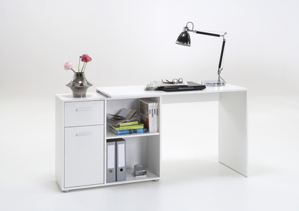 bureau d 39 angle albrecht blanc. Black Bedroom Furniture Sets. Home Design Ideas