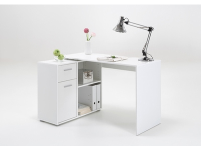 bureau d 39 angle albrecht blanc. Black Bedroom Furniture Sets. Home Design Ideas