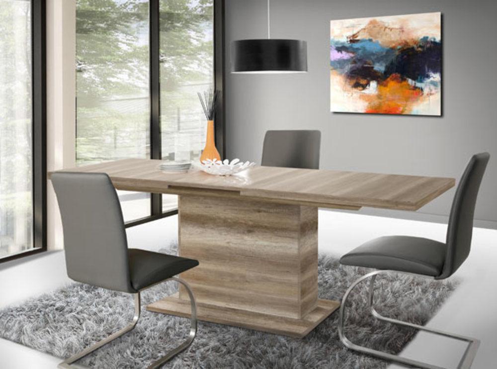Table de repas avec rallonge calpe chene antique for Table sejour avec rallonge