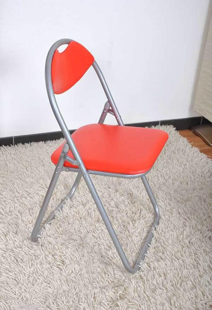 Chaise Pliante Elegante Rouge