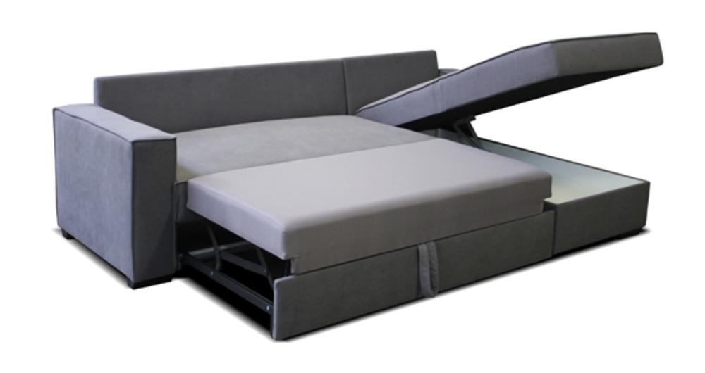 Canape D 39 Angle Convertible Et Reversible Lormont Gris
