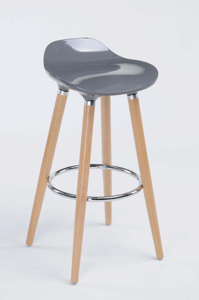 tabouret de bar filel naturel gris brillant. Black Bedroom Furniture Sets. Home Design Ideas