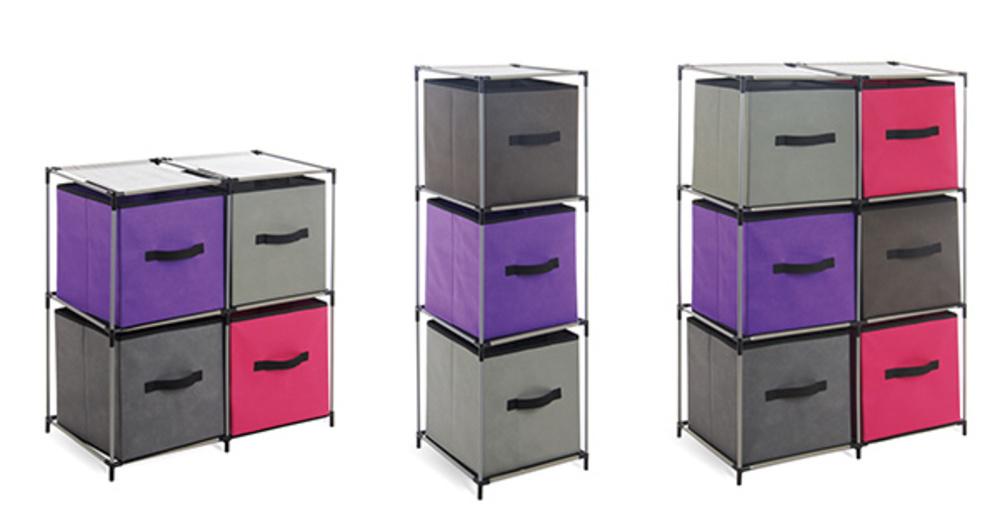 etagere 6 cases sienna gris noir. Black Bedroom Furniture Sets. Home Design Ideas