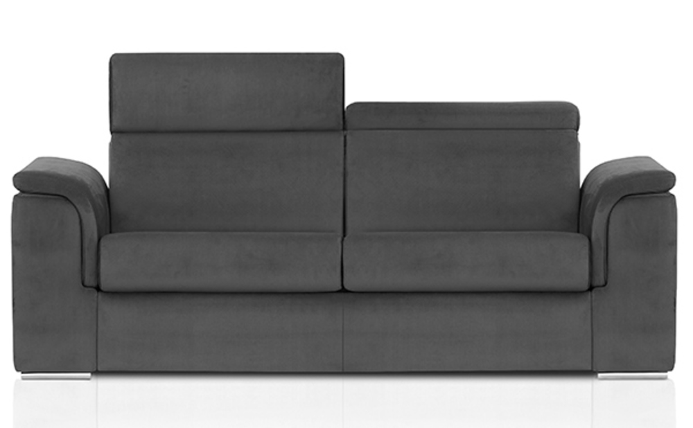 canape convertible avec couchage en 160 antigua gris. Black Bedroom Furniture Sets. Home Design Ideas