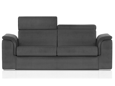 canape convertible avec couchage en 140 antigua gris. Black Bedroom Furniture Sets. Home Design Ideas