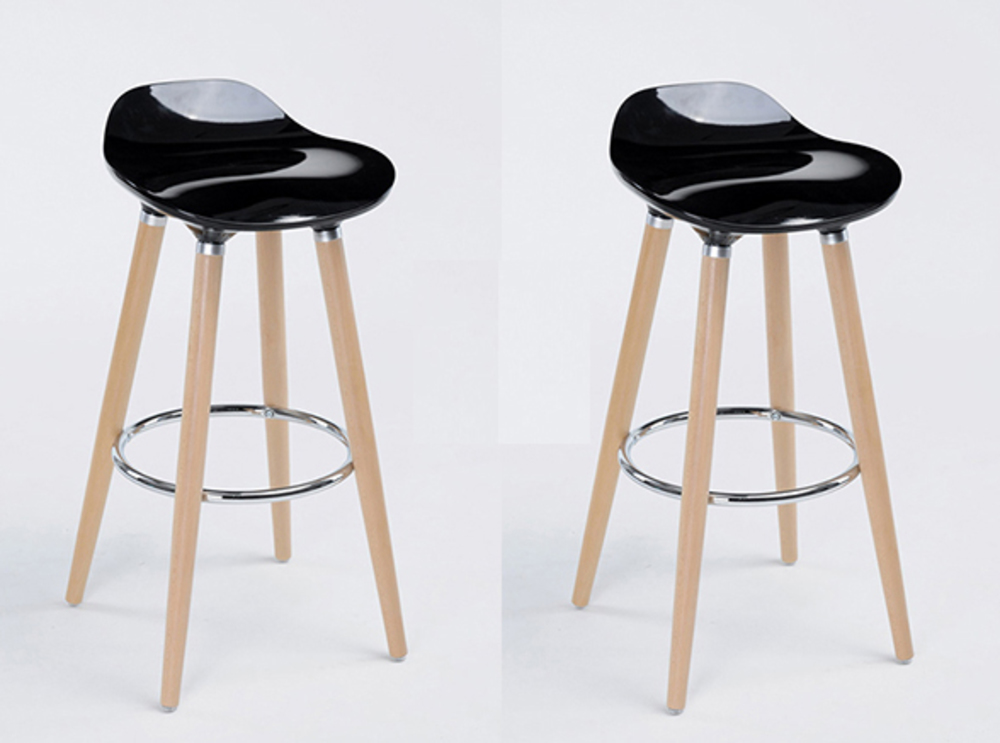 Lot de 2 tabourets de bar firel noir - Tabouret de bar starck ...