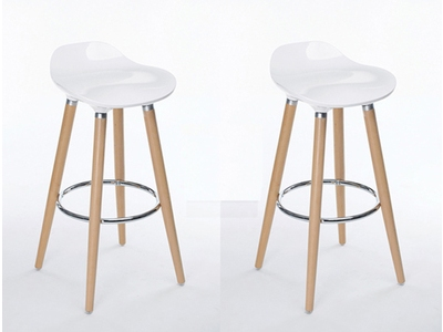Lot de  2 tabourets de bar Firel