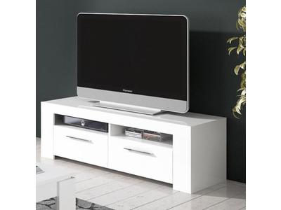 meuble tv cayo coco blanc brillant. Black Bedroom Furniture Sets. Home Design Ideas