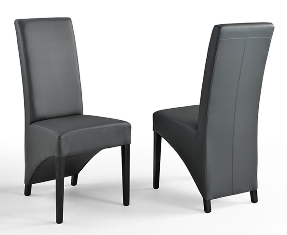 chaise toronto gris pieds noirs. Black Bedroom Furniture Sets. Home Design Ideas
