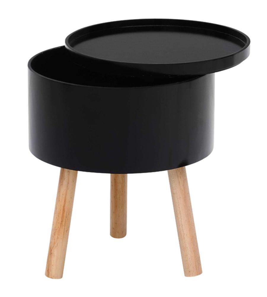 Bout de canape trieste noir hetre for Bout de canape noir