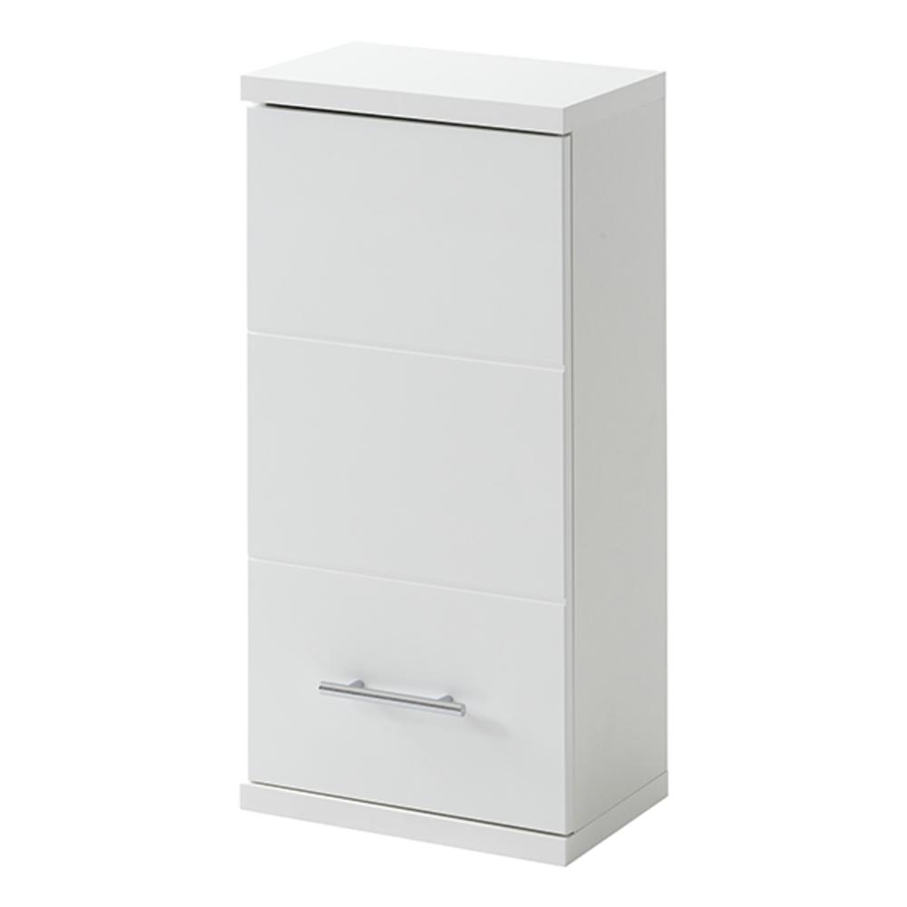 Element haut 1 porte bari blanc - Element haut salle de bain ...