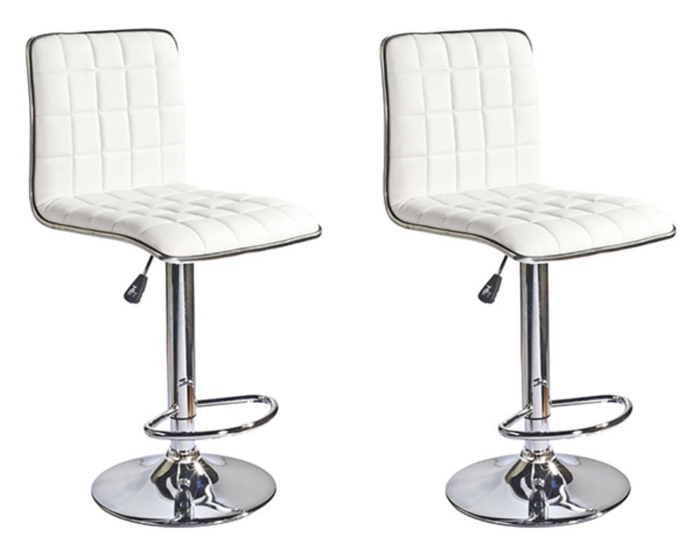 lot de 2 tabourets de bar soudelor blanc. Black Bedroom Furniture Sets. Home Design Ideas