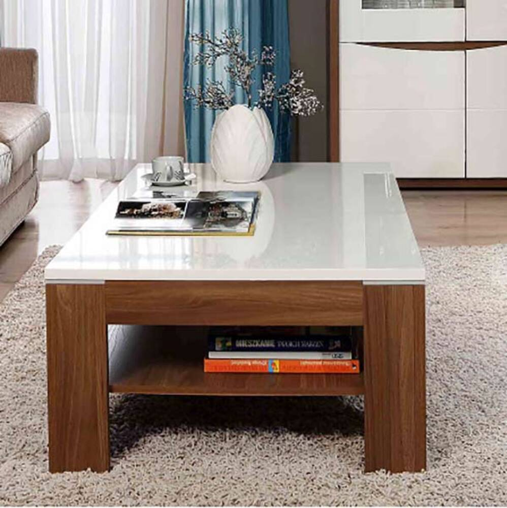 table basse saint tropez noyer blanc brillant. Black Bedroom Furniture Sets. Home Design Ideas