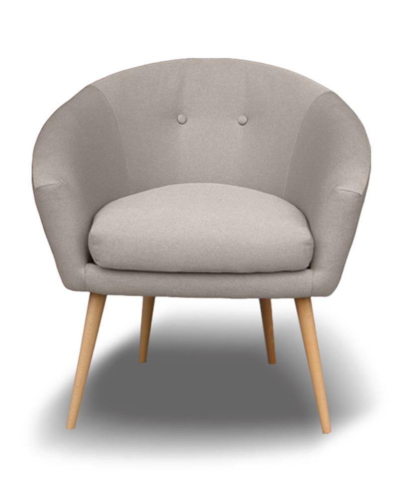 fauteuil vanta gris clair. Black Bedroom Furniture Sets. Home Design Ideas