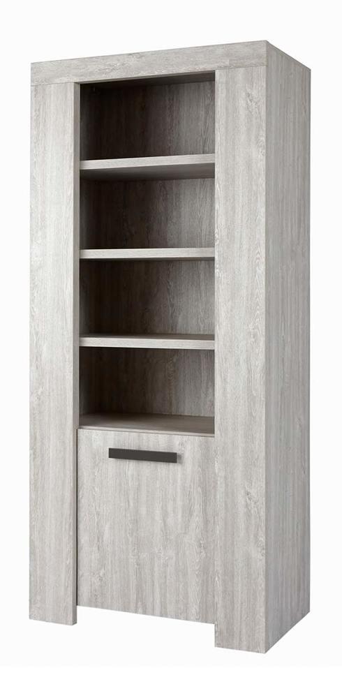 vitrine 1 porte 4 etag res jacoby valonia chene blanchi. Black Bedroom Furniture Sets. Home Design Ideas