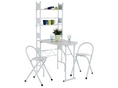 Set table + 2 chaises pliantes Jonathan