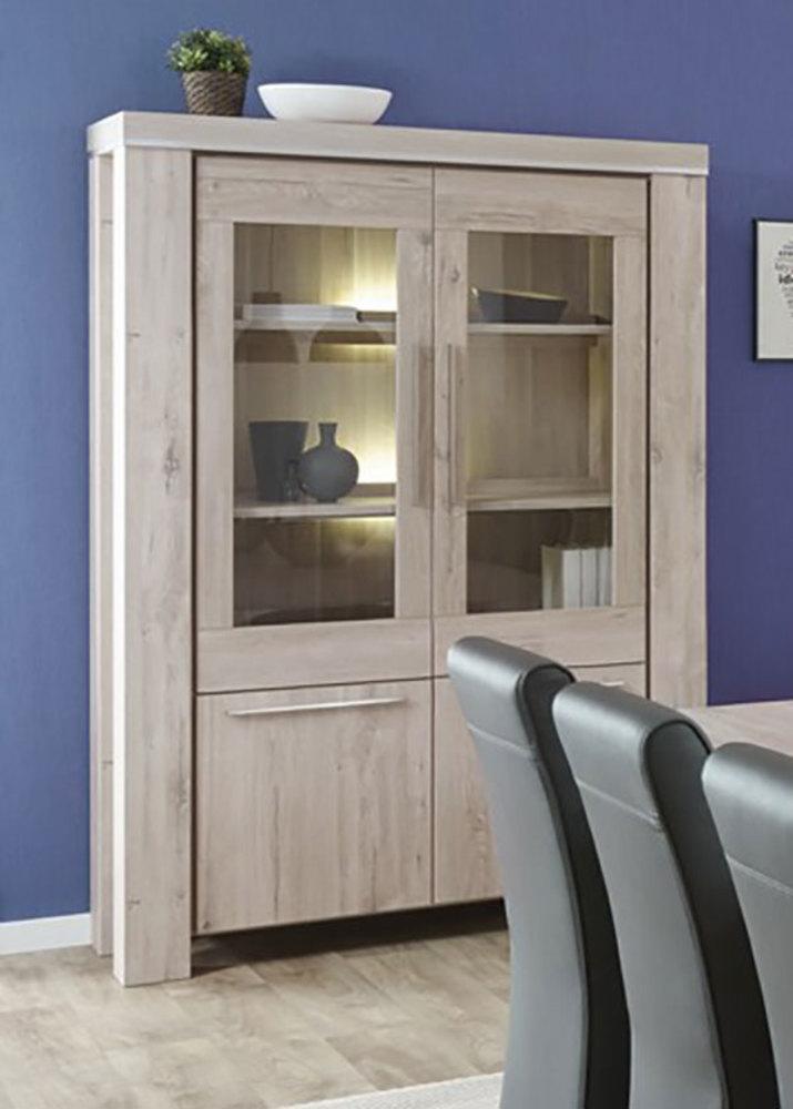 vitrine arena chene blanchi alu. Black Bedroom Furniture Sets. Home Design Ideas