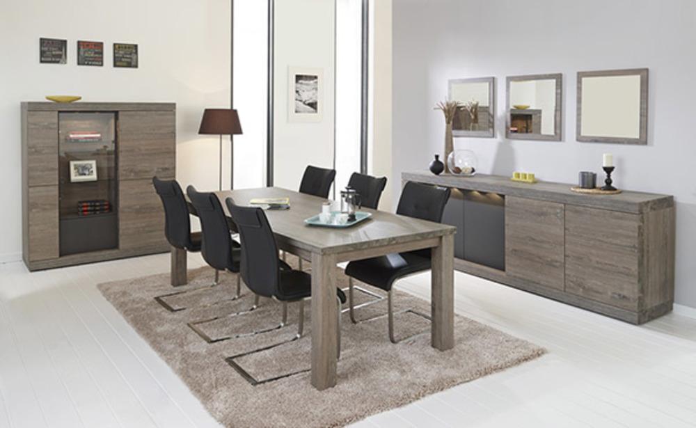 meuble tv 2 portes bologna chene brun noir mat. Black Bedroom Furniture Sets. Home Design Ideas