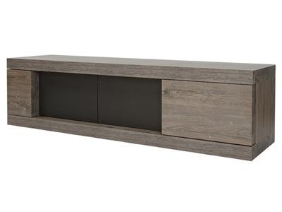 meuble tv genova blanc chene sonoma. Black Bedroom Furniture Sets. Home Design Ideas