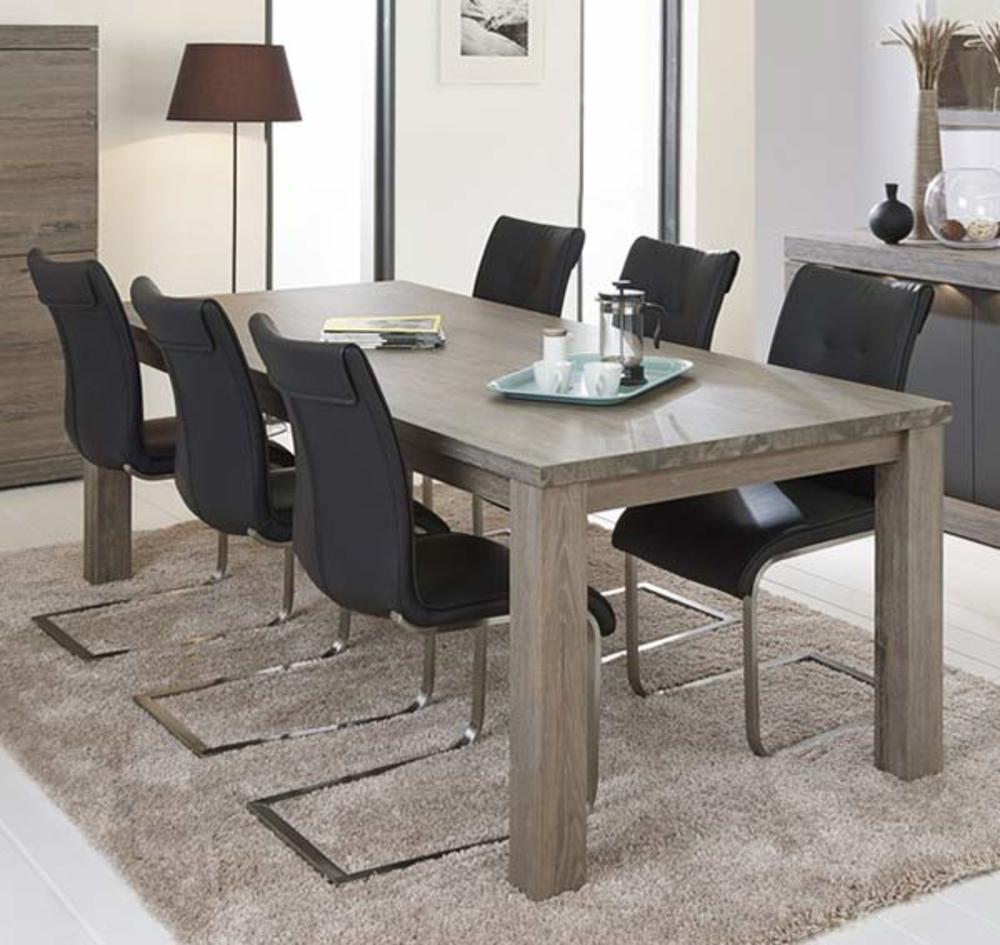 table de repas bologna chene brun l 163 5 x h 77 5 x p 101 5. Black Bedroom Furniture Sets. Home Design Ideas