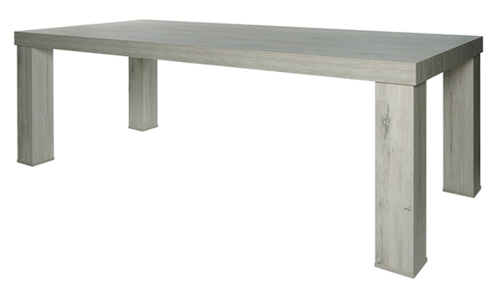 Table de repas bristol chene blanchi gris for Table de chevet malm chene blanchi