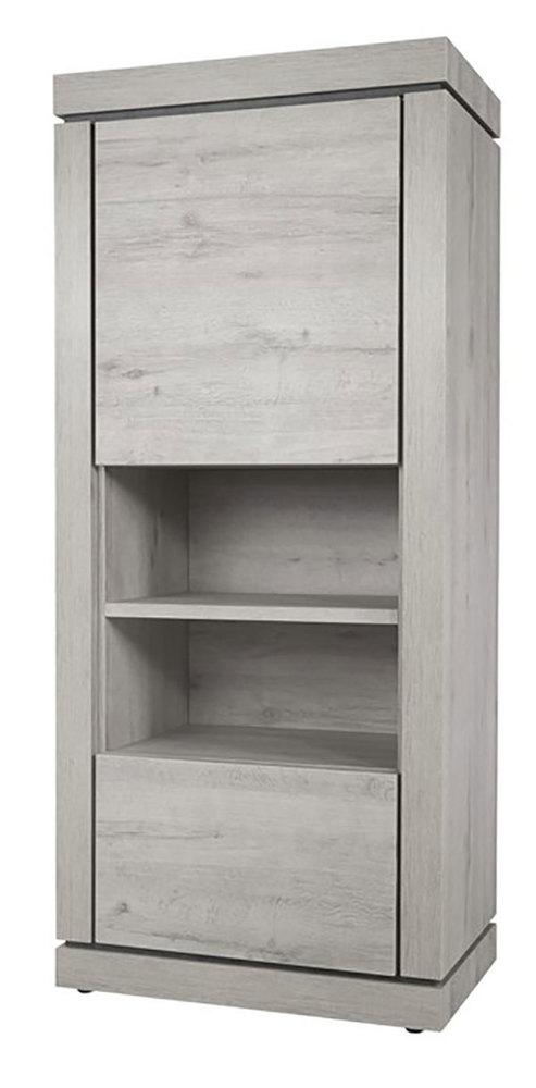 colonne 2 portes 2 niches bristol chene blanchi grise. Black Bedroom Furniture Sets. Home Design Ideas