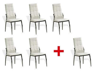 Lot de 5 chaises + 1 offerte Viletta