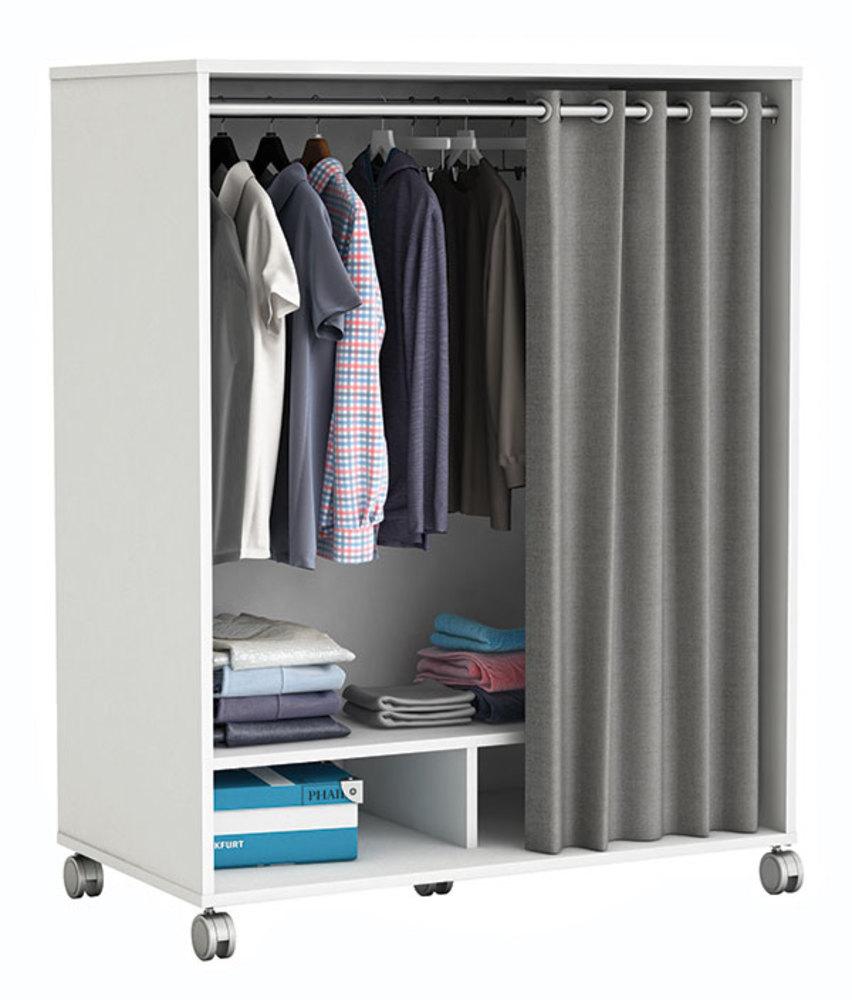 kit rangement sur roulettes rideau kit rangement sur roulettes rideau blanc perle. Black Bedroom Furniture Sets. Home Design Ideas