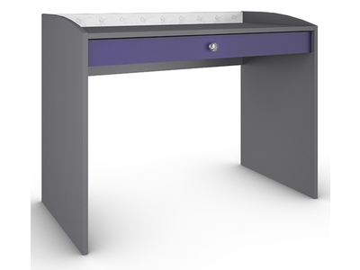 Bureau 1 tiroir glam violet gris for Bureau 1 tiroir jimi