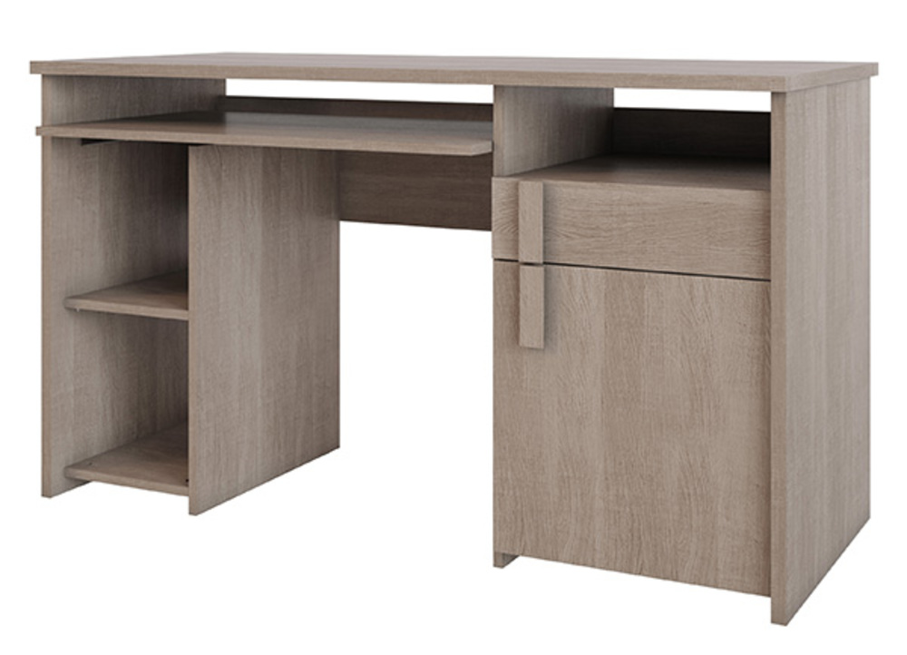 Bureau boston chene clair for Meuble bureau 77