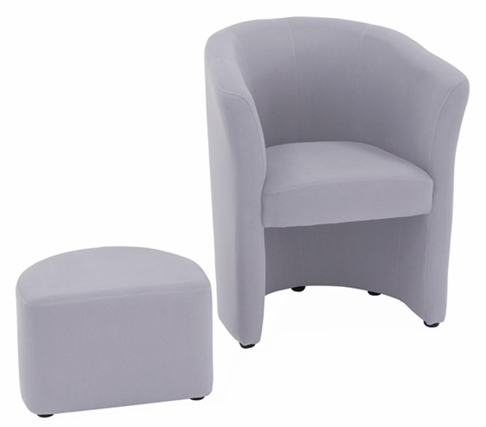 fauteuil pouf arcade gris clair. Black Bedroom Furniture Sets. Home Design Ideas
