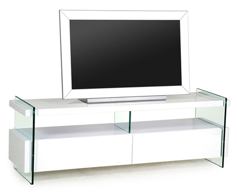 Meuble tv spekia blanc brillant - Meuble tv blanc brillant ...