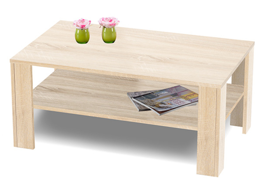 Table basse beatrice chene sonoma for Table basse sonoma