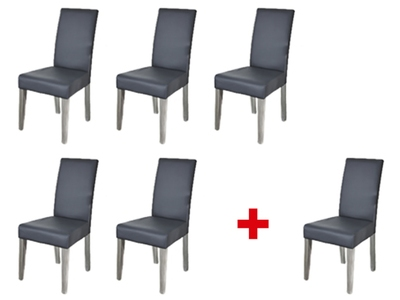 Lot de 5 chaises + 1 offerte Namur