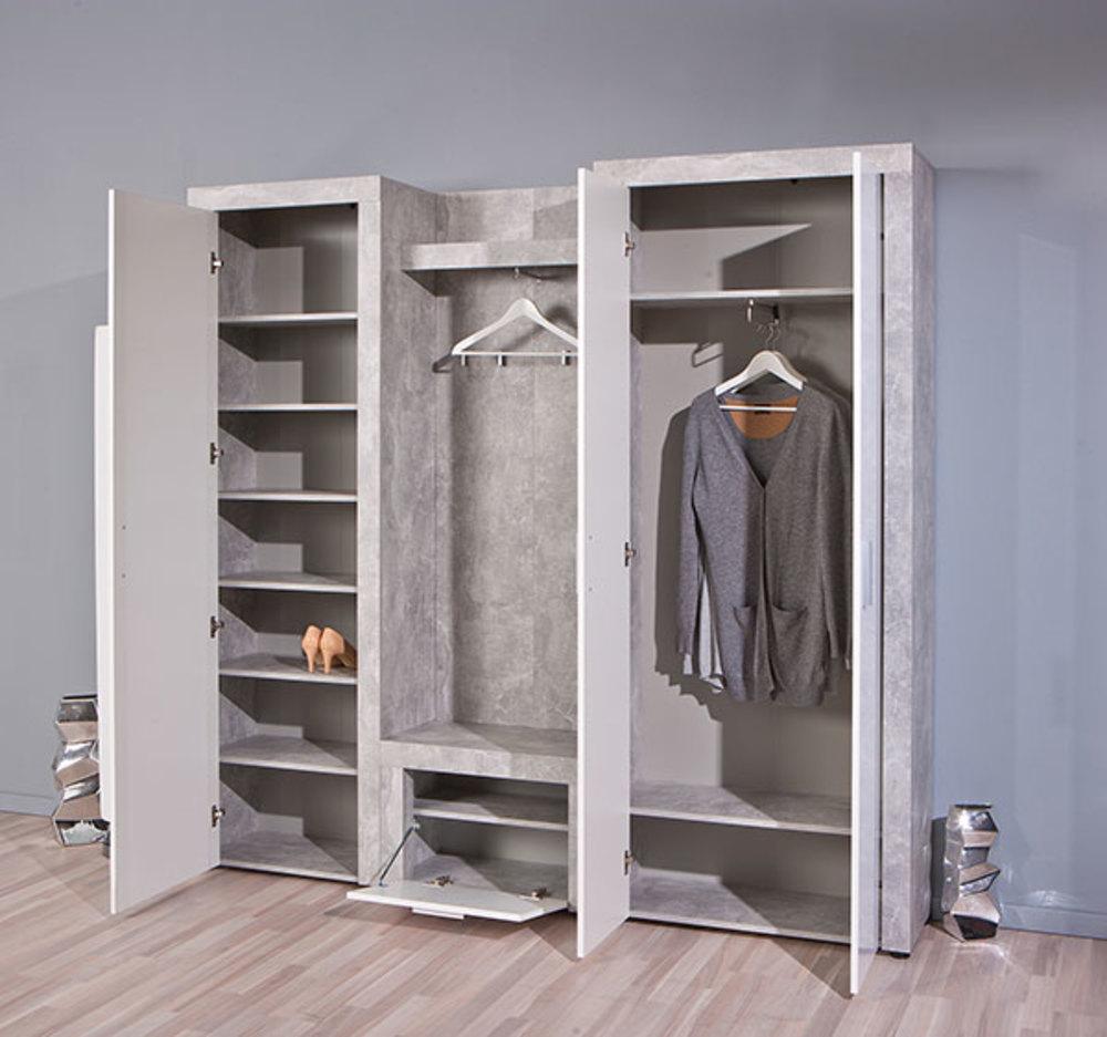 meuble chaussure beton hell b ton blanc. Black Bedroom Furniture Sets. Home Design Ideas