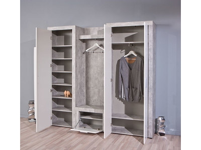 Armoire � chaussure Beton hell